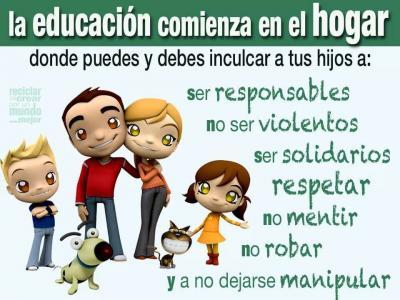 LA EDUCACIÓN COMIENZA EN EL HOGAR
