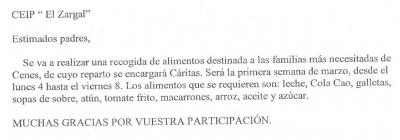 RECOGIDA DE ALIMENTOS